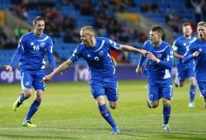Noregur - Ísland, undankeppni HM 2014, knattspyrna, fótbolti