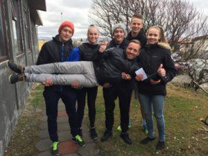 Helgi, Arna, Sigurður, Brynjar, Bergrún ásamt Gunnsteini.