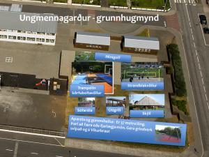 Ungmennagarður sem er í byggingu í Grindavík