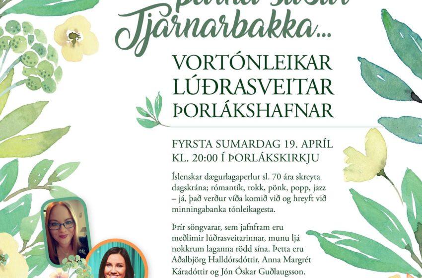Vortónleikar Lúðrasveitar Þorlákshafnar á sumardaginn fyrsta