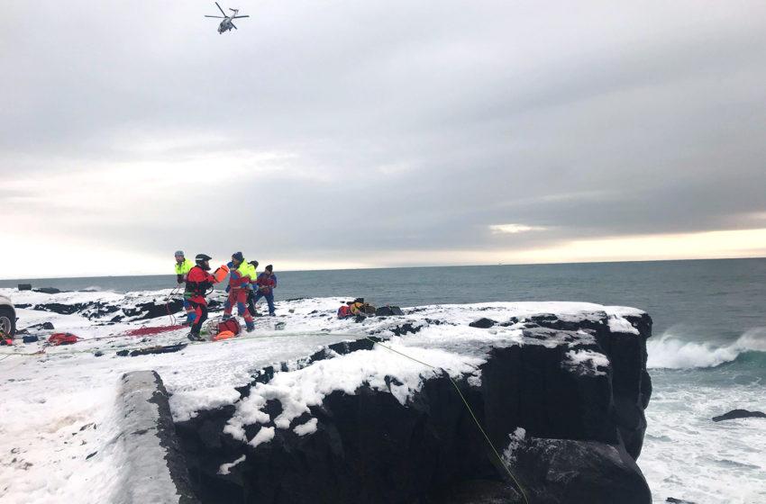 Kona slasaðist við bjargið í Þorlákshöfn